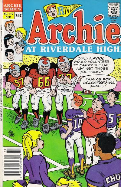 Cover for Archie at Riverdale High (Archie, 1972 series) #112