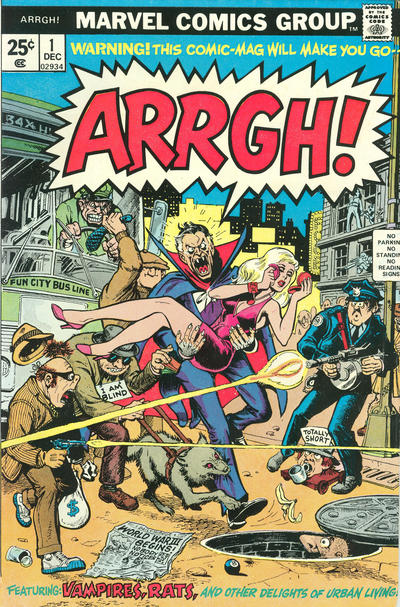 Cover for Arrgh! (Marvel, 1974 series) #1