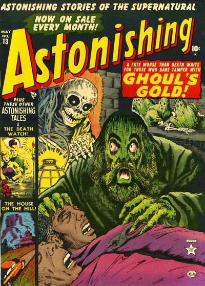 Cover for Astonishing (Marvel, 1951 series) #13