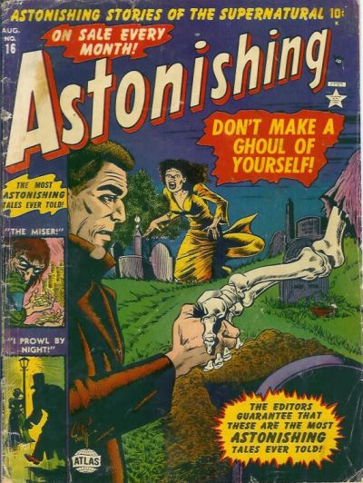 Cover for Astonishing (Marvel, 1951 series) #16