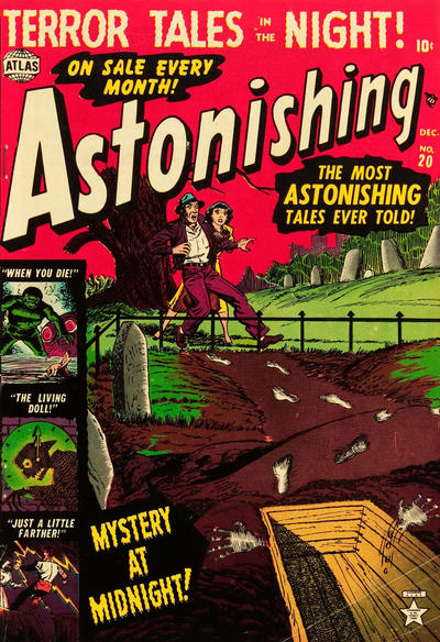 Cover for Astonishing (Marvel, 1951 series) #20