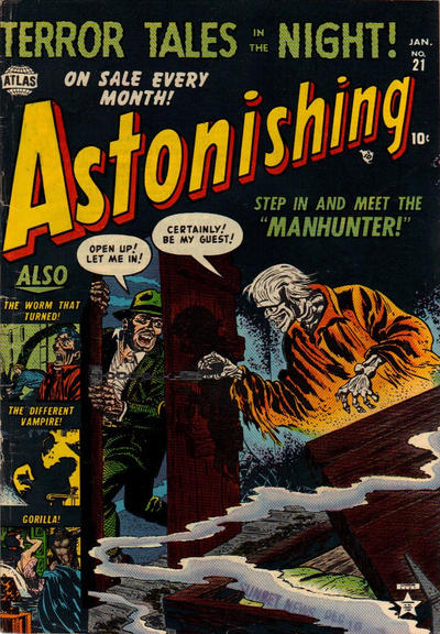 Cover for Astonishing (Marvel, 1951 series) #21
