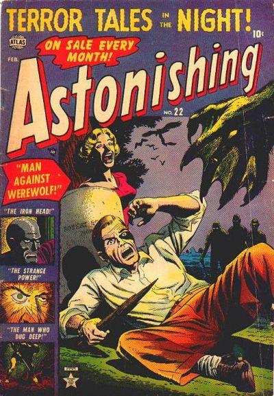 Cover for Astonishing (Marvel, 1951 series) #22