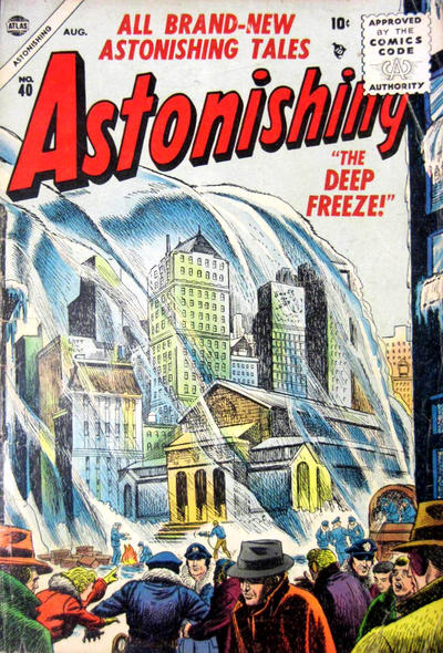 Cover for Astonishing (Marvel, 1951 series) #40