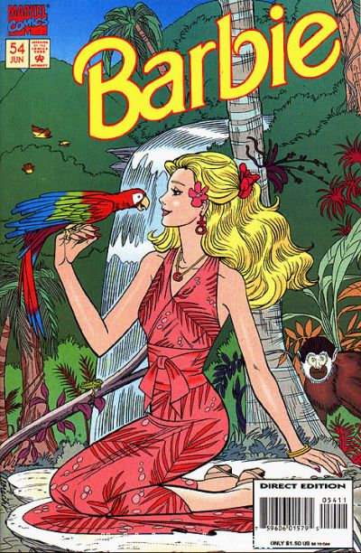 Cover for Barbie (Marvel, 1991 series) #54