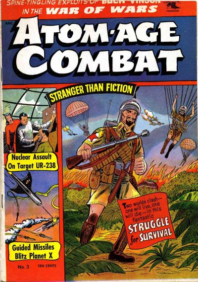 Cover for Atom-Age Combat (St. John, 1952 series) #3