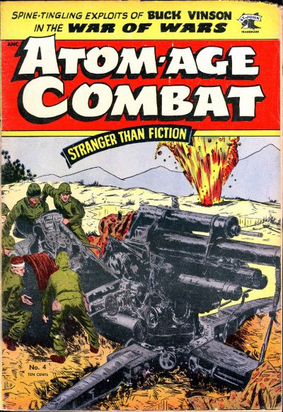 Cover for Atom-Age Combat (St. John, 1952 series) #4