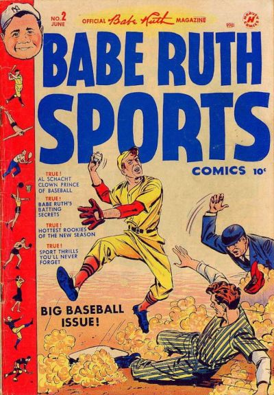 Cover for Babe Ruth Sports Comics (Harvey, 1949 series) #2