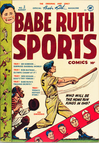 Cover for Babe Ruth Sports Comics (Harvey, 1949 series) #3