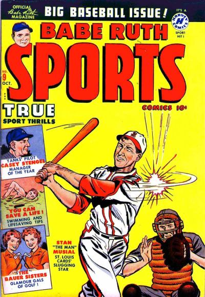 Cover for Babe Ruth Sports Comics (Harvey, 1949 series) #9