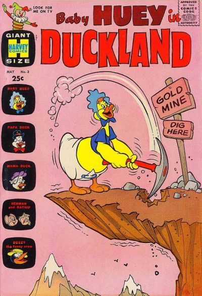 Cover for Baby Huey in Duckland (Harvey, 1962 series) #3