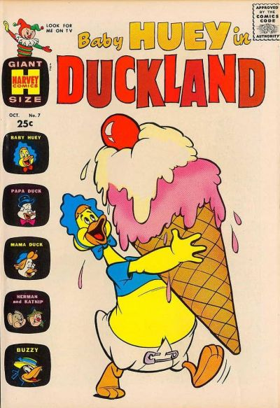 Cover for Baby Huey in Duckland (Harvey, 1962 series) #7