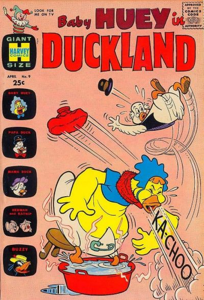 Cover for Baby Huey in Duckland (Harvey, 1962 series) #9