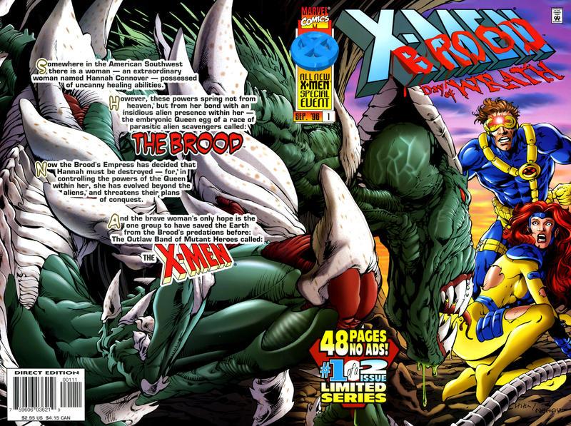 Cover for X-Men vs. The Brood (Marvel, 1996 series) #1