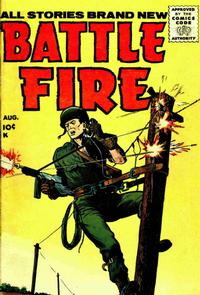 Cover Thumbnail for Battle Fire (Stanley Morse, 1955 series) #3