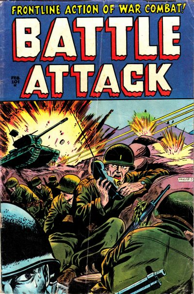 Cover for Battle Attack (Stanley Morse, 1954 series) #3