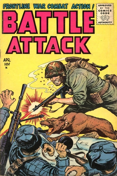 Cover for Battle Attack (Stanley Morse, 1954 series) #4