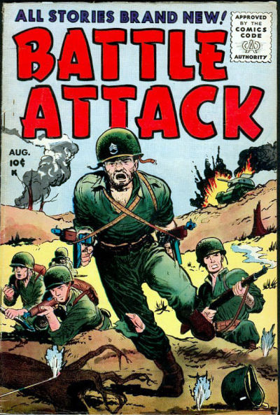 Cover for Battle Attack (Stanley Morse, 1954 series) #6