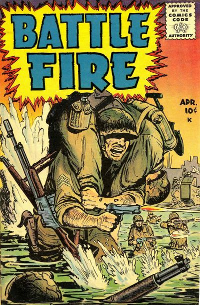 Cover for Battle Fire (Stanley Morse, 1955 series) #1