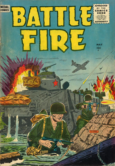 Cover for Battle Fire (Stanley Morse, 1955 series) #6