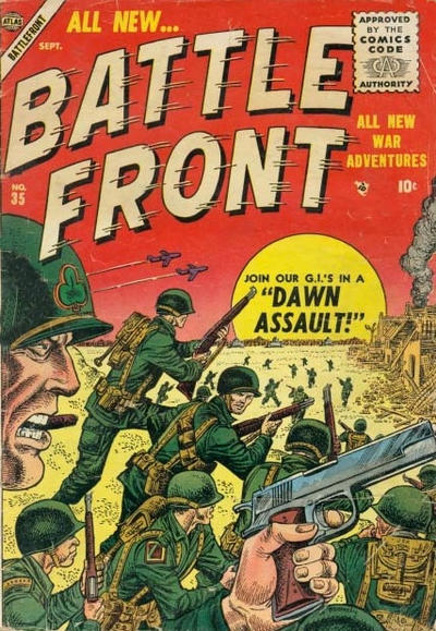Cover for Battlefront (Marvel, 1952 series) #35
