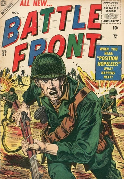 Cover for Battlefront (Marvel, 1952 series) #37