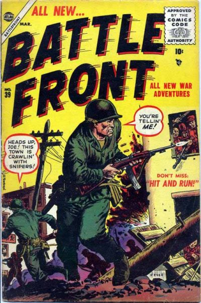 Cover for Battlefront (Marvel, 1952 series) #39