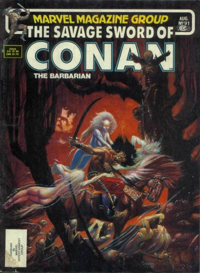 Cover for The Savage Sword of Conan (Marvel, 1974 series) #91