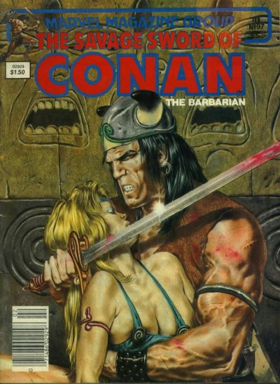 Cover for The Savage Sword of Conan (Marvel, 1974 series) #97