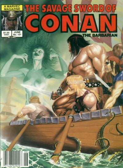 Cover for The Savage Sword of Conan (Marvel, 1974 series) #101