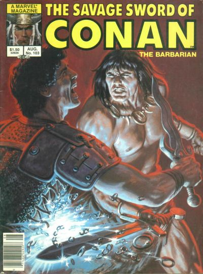Cover for The Savage Sword of Conan (Marvel, 1974 series) #103