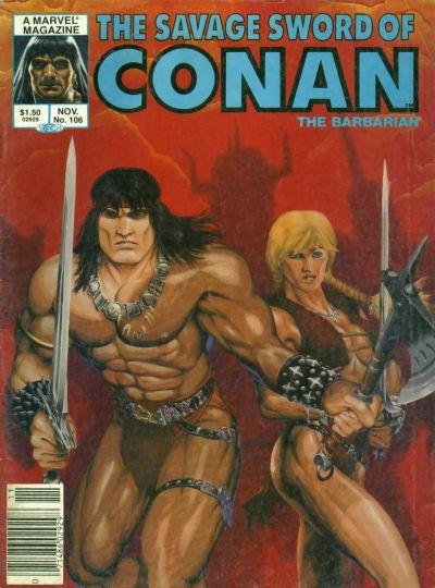 Cover for The Savage Sword of Conan (Marvel, 1974 series) #106