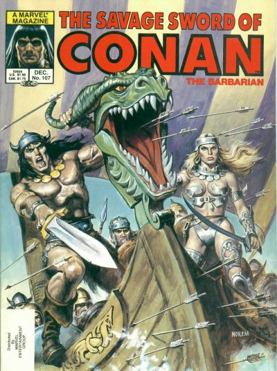 Cover for The Savage Sword of Conan (Marvel, 1974 series) #107