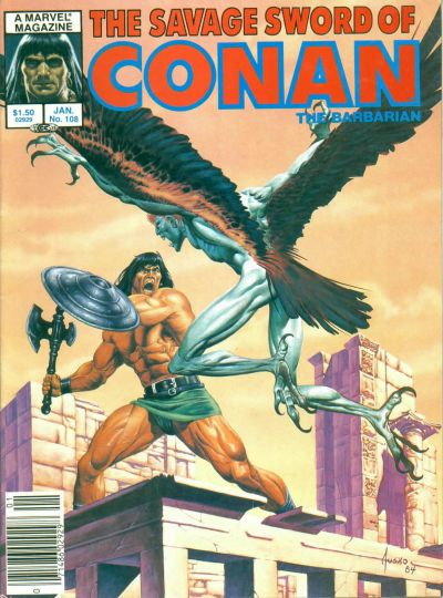 Cover for The Savage Sword of Conan (Marvel, 1974 series) #108