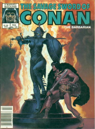 Cover for The Savage Sword of Conan (Marvel, 1974 series) #109
