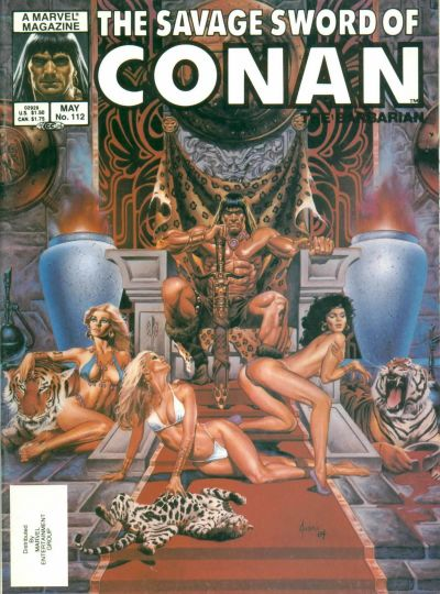 Cover for The Savage Sword of Conan (Marvel, 1974 series) #112