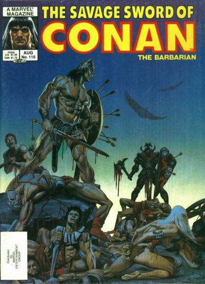 Cover for The Savage Sword of Conan (Marvel, 1974 series) #115