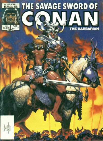 Cover for The Savage Sword of Conan (Marvel, 1974 series) #117