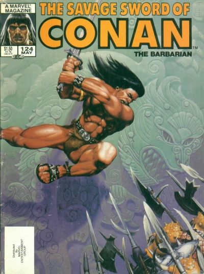 Cover for The Savage Sword of Conan (Marvel, 1974 series) #124