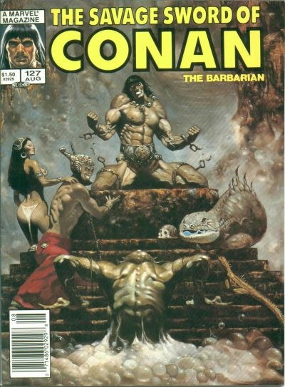 Cover for The Savage Sword of Conan (Marvel, 1974 series) #127