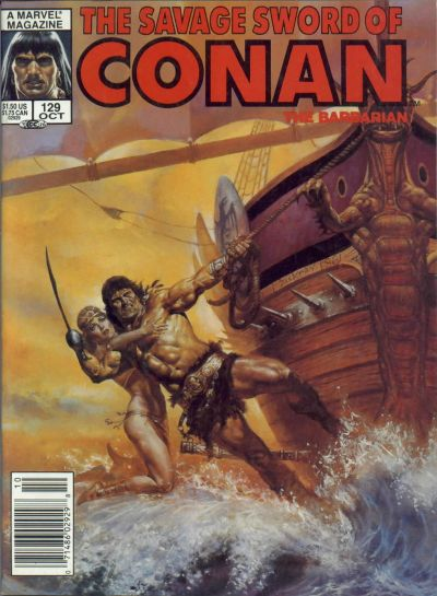 Cover for The Savage Sword of Conan (Marvel, 1974 series) #129