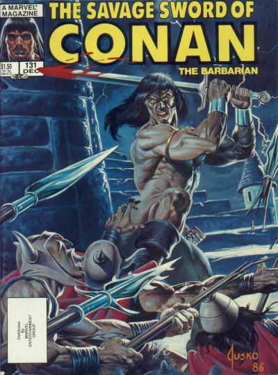 Cover for The Savage Sword of Conan (Marvel, 1974 series) #131