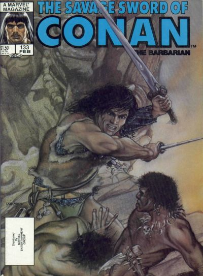 Cover for The Savage Sword of Conan (Marvel, 1974 series) #133 [Newsstand Edition]