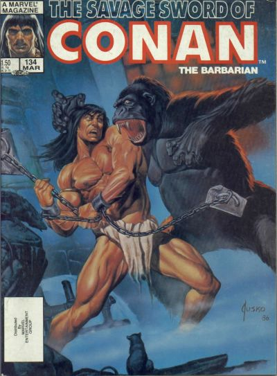 Cover for The Savage Sword of Conan (Marvel, 1974 series) #134 [Direct Edition]