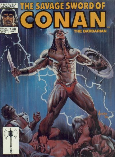 Cover for The Savage Sword of Conan (Marvel, 1974 series) #138 [Newsstand Edition]