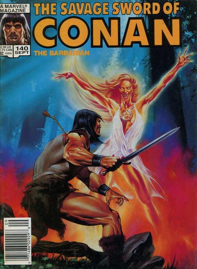 Cover for The Savage Sword of Conan (Marvel, 1974 series) #140