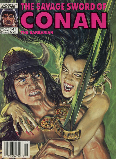 Cover for The Savage Sword of Conan (Marvel, 1974 series) #141
