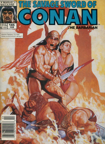 Cover for The Savage Sword of Conan (Marvel, 1974 series) #145