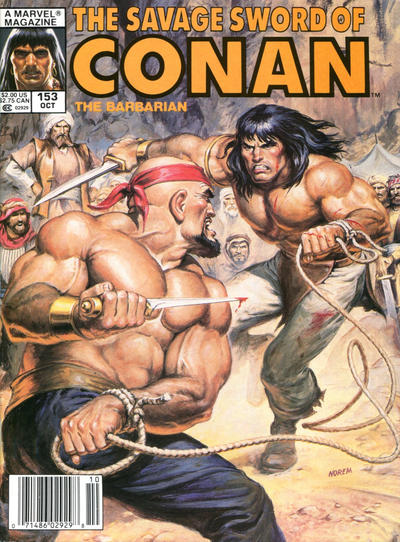 Cover for The Savage Sword of Conan (Marvel, 1974 series) #153