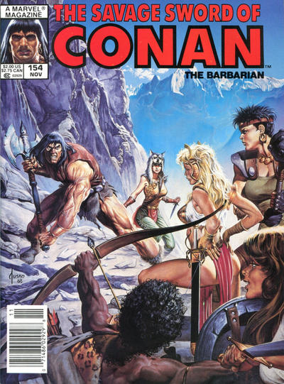 Cover for The Savage Sword of Conan (Marvel, 1974 series) #154